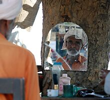 Hair saloon under a tree by Emoto