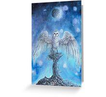 White Owl Moon Greeting Card
