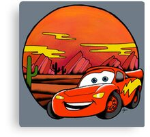 Lightning McQueen Canvas Print