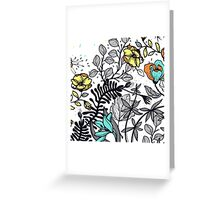 Hand Drawn Floral on White Background Greeting Card