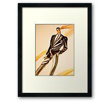 Watercolor tuxedo Framed Print