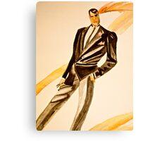 Watercolor tuxedo Canvas Print