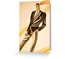Watercolor tuxedo Greeting Card