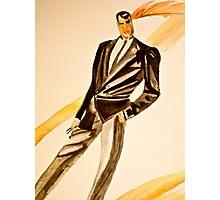 Watercolor tuxedo Photographic Print