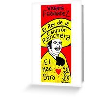 Vicente Fernandez Mexico Pop Folk Art Greeting Card