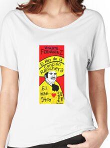 Vicente Fernandez Mexico Pop Folk Art Women's Relaxed Fit T-Shirt