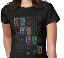 """NanoFam with Hexagons""© Womens Fitted T-Shirt"