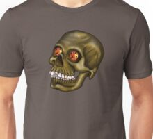 Skull with glowing dice for eyes Unisex T-Shirt
