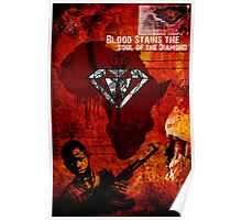 blood stains the heart of the diamond Poster
