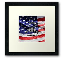 American Flag with Guns Framed Print