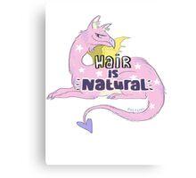 hair is natural Canvas Print