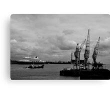 Thames Traffic Canvas Print