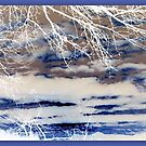 Abstract  in Blue & White by ©The Creative  Minds