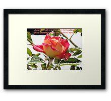 Proverbs 12v4 English Rose Framed Print