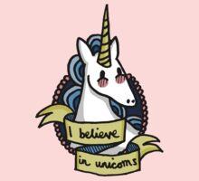 I Believe in Unicorns Kids Tee