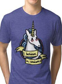 I Believe in Unicorns Tri-blend T-Shirt