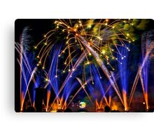 Big Blue Illuminations Fireworks at Epcot Canvas Print