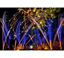 Big Blue Illuminations Fireworks at Epcot Photographic Print