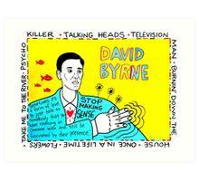 David Byrne Pop Folk Art Art Print