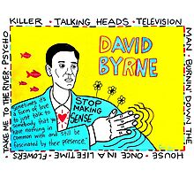 David Byrne Pop Folk Art Photographic Print