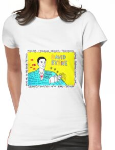 David Byrne Pop Folk Art Womens Fitted T-Shirt