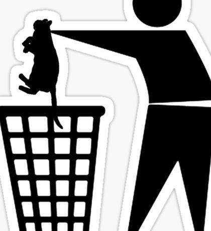 Bin cat Sticker