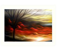 Abstract Trees Oil Painting #8 Art Print