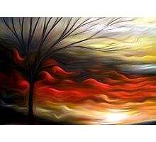 Abstract Trees Oil Painting #8 Photographic Print