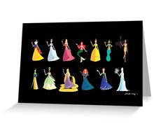 Origami - The Princesses Greeting Card