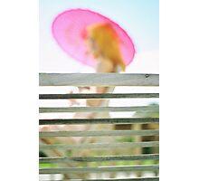 A deckchair on the terrace Photographic Print
