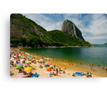 Praia Vermelho, Rio de Janeiro Canvas Print