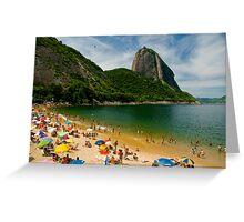 Praia Vermelho, Rio de Janeiro Greeting Card