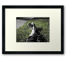 The Grass Is Green Framed Print