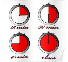 Chronometers against white Poster