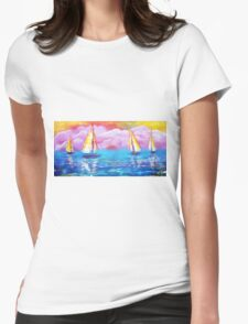 Cotton Candy Cove Womens Fitted T-Shirt