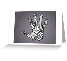 Abstract Doodle Hand (B+W) Greeting Card