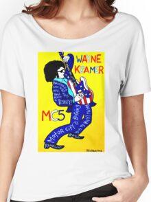 Wayne Kramer MC5 Pop Folk Art Women's Relaxed Fit T-Shirt