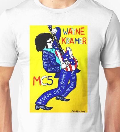 Wayne Kramer MC5 Pop Folk Art Unisex T-Shirt