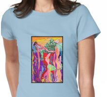 Monkeys in the Rainforest  Womens Fitted T-Shirt