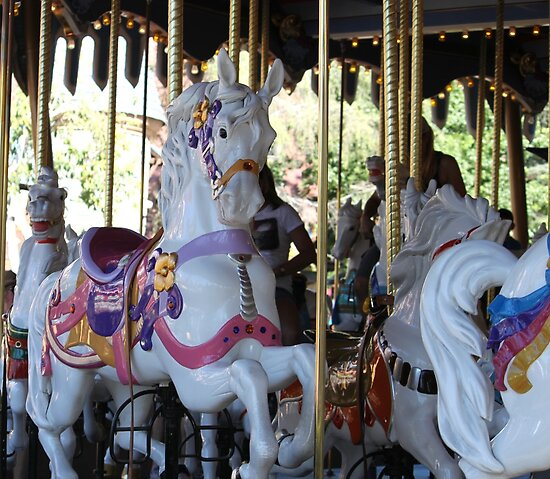 One of the beautiful Disneyland carrousel horses..... by DonnaMoore
