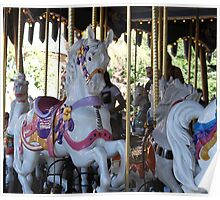 One of the beautiful Disneyland carrousel horses..... Poster
