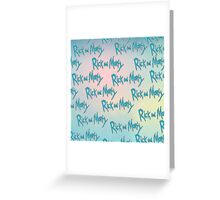 Rick and Morty Repeating Pattern Greeting Card