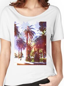 Tropical Palm Trees, beach Women's Relaxed Fit T-Shirt