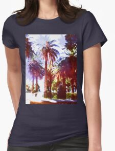 Tropical Palm Trees, beach Womens Fitted T-Shirt