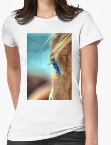 Horse Eye Womens Fitted T-Shirt