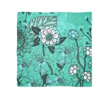 Gorgeous Floral on Teal Background Scarf