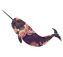Narwhal - Floral Photographic Print