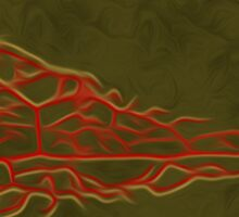 Abstract Leaf Oil Painting #5 Sticker
