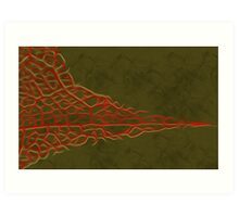 Abstract Leaf Oil Painting #5 Art Print