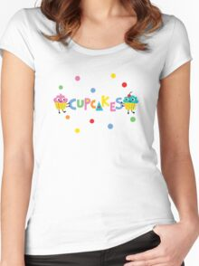 I love cupcakes banner Women's Fitted Scoop T-Shirt